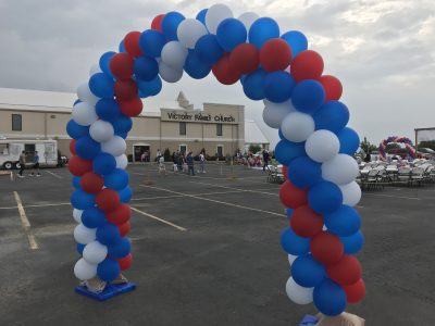 Swirl Arch Forth of July | Balloon Arches | Balloons