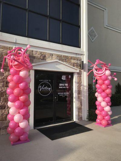 Pink Wild Balloon Columns | Balloon Columns