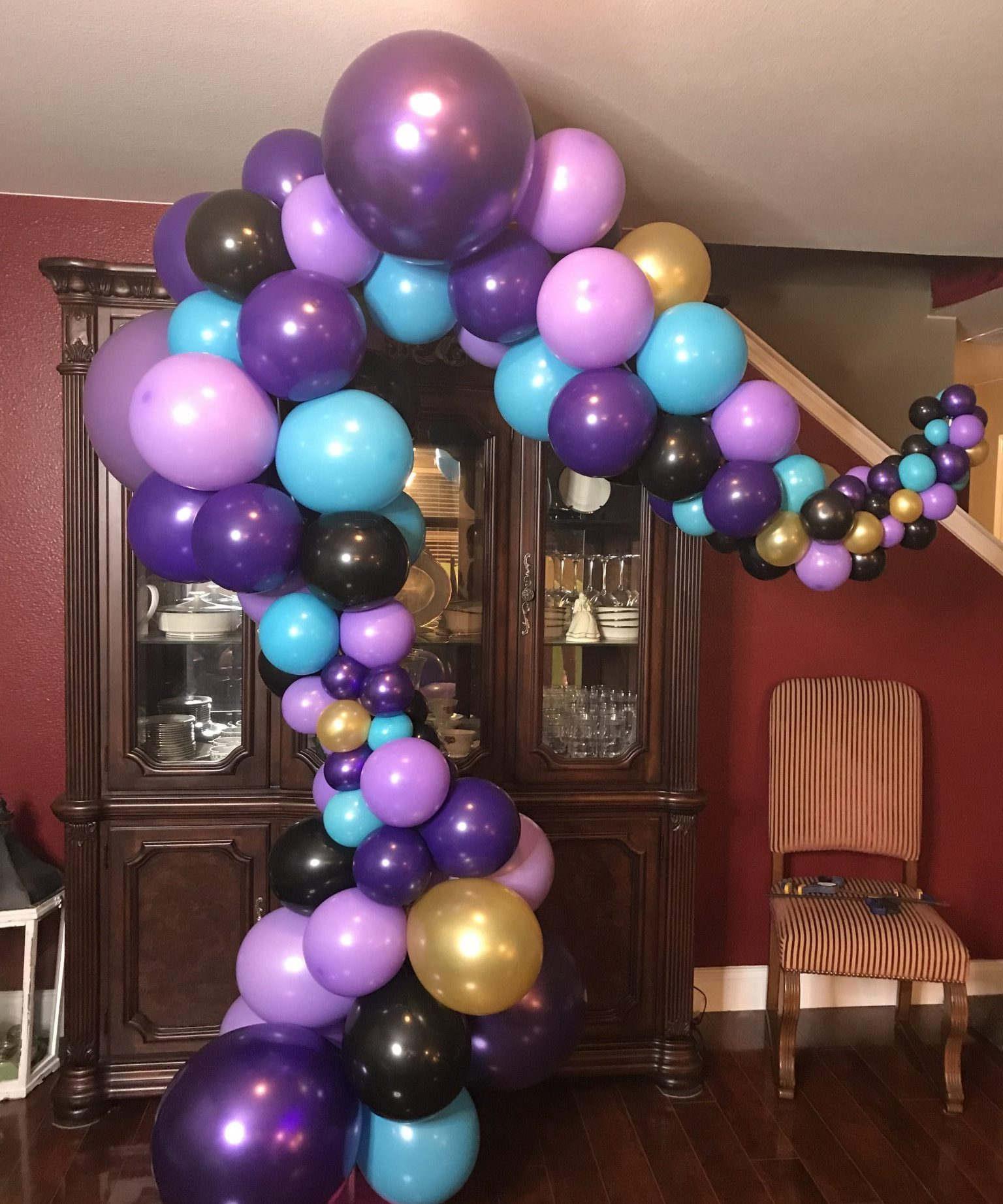 Whimsical Organic Balloon Arch