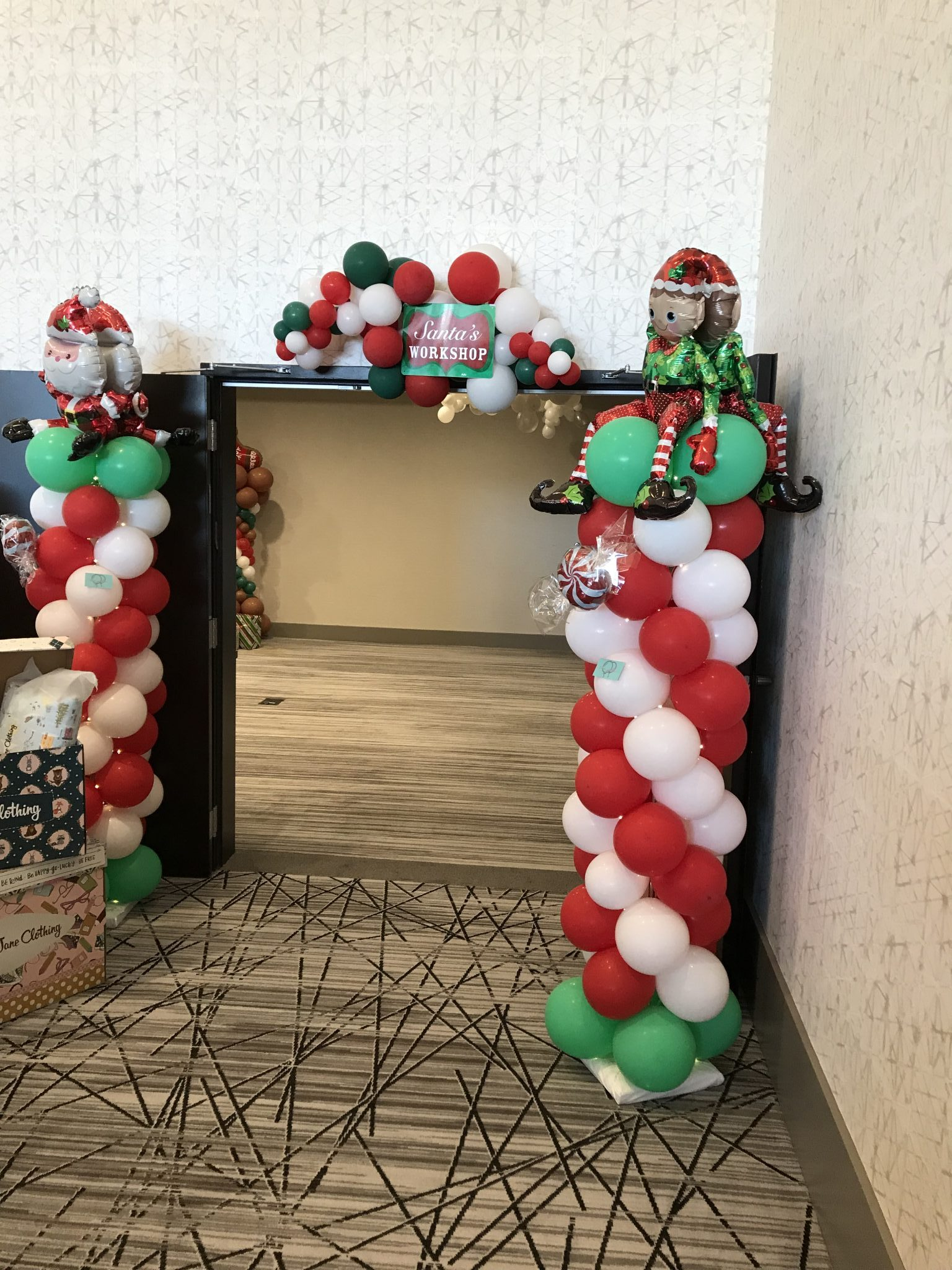 Christmas Balloon Columns