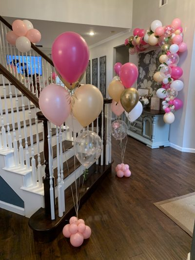 Balloon Bouquets with Balloon Garland