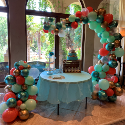 Baby Shower Organic Arch | Balloons | Organic Balloons